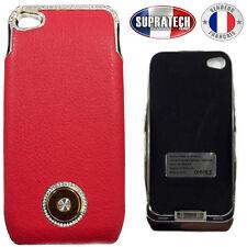 Coque Protection Rouge avec Batterie de Secours 1800 mAh pour Apple iPhone 4 4S