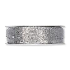 "Ribbon Lurex Matt Silver Spark 6mm/0.25"" Wide on a Full 50m/54.5yd Roll"