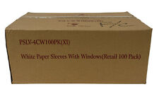 1000 Premium Quality Cd Dvd White Paper Sleeve With Window Amp Flap Envelope 100gr