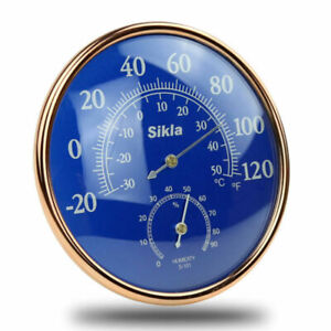 Large Indoor Outdoor Hygrometer Temperature Meter Test Wall Thermometer Sup L0Z1