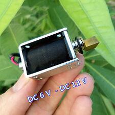 DC 6V 9V 12V 2A 3mm Stroke Push Pull Type Open Frame Solenoid Electromagnet New