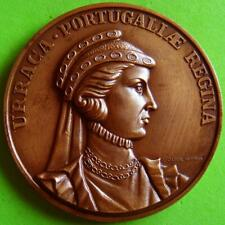 Monarchy Queen Consort to King Afonso II Portugal Urraca of Castile Bronze Medal