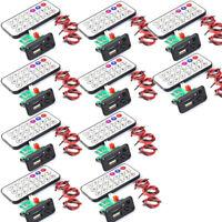 10Pcs Mini MP3 Module with USB TF WAV Decoding Board w/ Amplifier&Remote Control