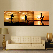 HD Printed Modern Abstract Oil Painting Wall Decor Art Huge - Romantic Couple
