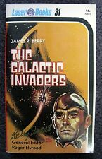 KELLY FREAS SIGNED HARLEQUIN LASER PAPERBACK BOOK #31 THE GALACTIC INVADERS FINE