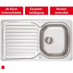 Franke  Elba ELN 611 - Edelstahl Spüle glatt Küchenspüle Einbauspüle Exzenter