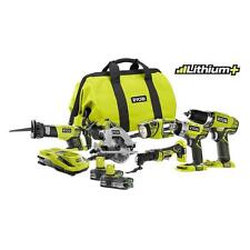 RECON Ryobi P884 One+ Plus 18V Battery Lithium Ion Kit Impact Drill Saw Light !!