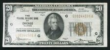 FR. 1870-G 1929 $20 FRBN FEDERAL RESERVE BANK NOTE CHICAGO, IL VERY FINE