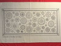Whimsy Rugs Rug Hooking Pattern - Circle Circus - Linen - 17 x 36