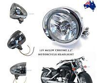 Chrome Silver Bullet Motorcycle Head Light Headlight for Harley Davidson Chopper