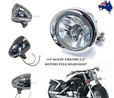 "5.5 "" CHROME BILLET ALUMINIUM HEADLIGHT Suit Harley Davidson Motorcycle 55w/60w"