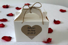 Personalised Vinatge Hen Party Wedding Christening Favour Gift Box Bag  HD10