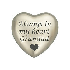 Always In My Heart Grandad Silver Heart Urn Keepsake for Ashes Cremation