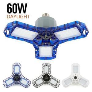 360 degrés 40W 60W Triple lumière de Garage déformable 6000 Lumens lumière LED