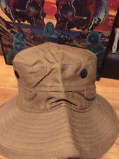 Vintage WWII Era Post Army Military British Boonie Brown Color Bucket Hat Cap.