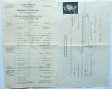 1947 PALESTINE CERTIFICATE OF NATURALIZATION AND APPLICATION FOR PASSPORT