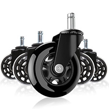 Office Chair Wheels 25 Inch Heavy Duty Chair Casters Set Of 5 Rubber Caster Amp