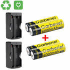4PC 3.7v 18650 Li-ion Rechargeable Battery + 2x Smart Dual Charger for LED Torch