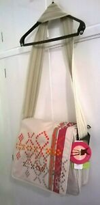 LASSIG - CREAM - ECO FRIENDLY BABY / NAPPY CHANGING BAG, NEW with TAGS messenger