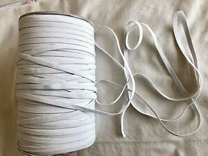 Elastic Cord White / Black 3-4-6mm for Sewing Dressmaking Tailoring Face Masks