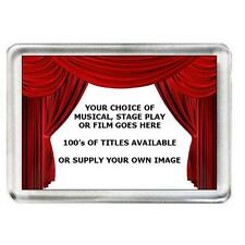50 x Musical, Stage Play or Film Fridge Magnets. 100's of titles to choose from.