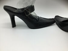 Sexy Women's Black Slip on High Heels Dress Shoes by LINEA PAOLO Chunky Size 6.5