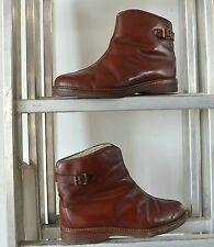 Antik Stiefelette Boots Halbstiefel 40er TRUE VINTAGE Winterstiefelette Stiefel