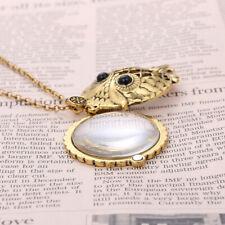 5x Magnifying Glass Pendant Vintage Owl Skeleton Necklace Men Women Jewelry