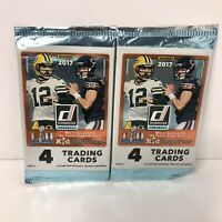 Lot of 2 NFL Football 2017 Donruss Panini Factory Sealed Pack Mahomes rookie?