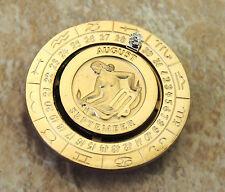 Virgo Zodiac Money Clip Gold Plated Diamond Vintage Swank Pierre Cardin