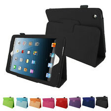 Portfolio Folding Folio Leather Case Cover w/ Stand For Apple iPad Mini 1 2 3
