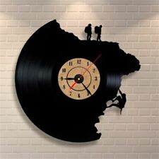 Climbing Shape Vinyl Record Clock Large 3D Decorative Wall Quartz Antique Clocks