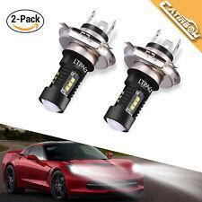 2x H4/9003 LED Scheinwerfer Birnen Auto Tagfahrlicht Lampen Leuchte 6000K COB