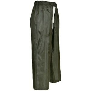 KIDS CHILD'S 100% WATERPROOF TOUGH SHOOTING HUNTING BEATING OVER TROUSERS CHAPS