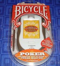 3 In 1  Poker Electronic Handheld Travel Game New In The Package