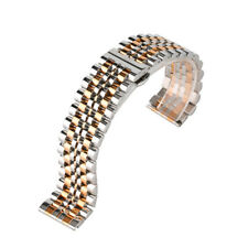20mm 22mm Stainless Steel Bracelets Watch Band Strap Replacement Straight Ends