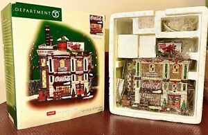 Department 56 CIC Christmas In The City Coca Cola Bottling Plant Retired