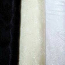 Polyester Paisley Silky Jacquard Lining Dressmaking Costume Fabric - 5 colours