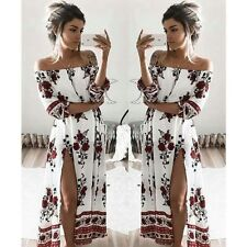 Women Boho Floral Maxi Long Dresses Summer Evening Party Beach Casual Sundress