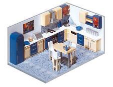 HO 1:87 Faller 180545 FOUR ROOM HOUSE INTERIOR w LEDs Model Building DETAIL KIT