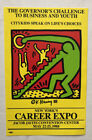 Rare Keith Haring Citykids sticker for New York's 1988 Career Expo
