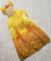 DISNEY FASHION DOLL BEAUTY & THE BEAST BELLE GOLD PINK DRESS FITS BARBIE SKIPPER