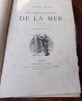 VICTOR HUGO  LES TRAVAILLEURS DE LA MER  E illustrations  D Vierge   1876
