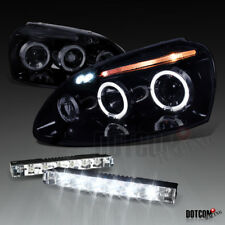 Glossy Black Fit 2006-2010 VW Golf Jetta Halo Projector Headlights+LED Fog Lamps