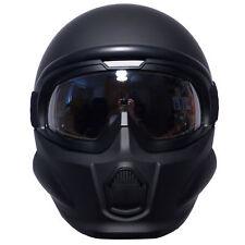 Viper RS07 Trooper Open Face Fibreglass Fitted Mask Motorcycle Helmet Matt Black