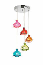 Sarandon 5lt Pendant 20w - Multi Coloured Glass