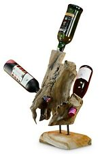 Bottle Stand Wood Wine Rack Bottles Stand Wine Shelf Root Teak Rustic
