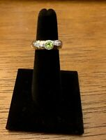 Silpada R1416 Green Peridot Ring .925 Sterling Silver Hammered SZ 6 Rare!