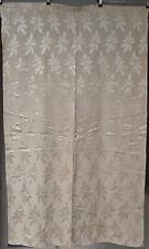 COPPIA Vintage 50s Bianco JACQUARD Curtains. SATIN contro LAMINATA contrasto. n. 1/3