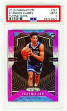 BRANDON CLARKE 2019 Panini Prizm #266 PURPLE WAVE PSA 9 MINT ROOKIE RC